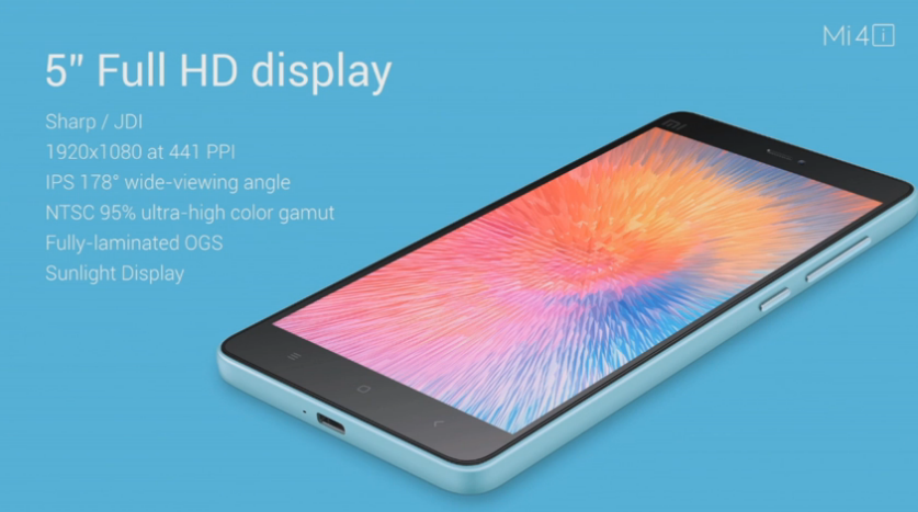 Mi4i display