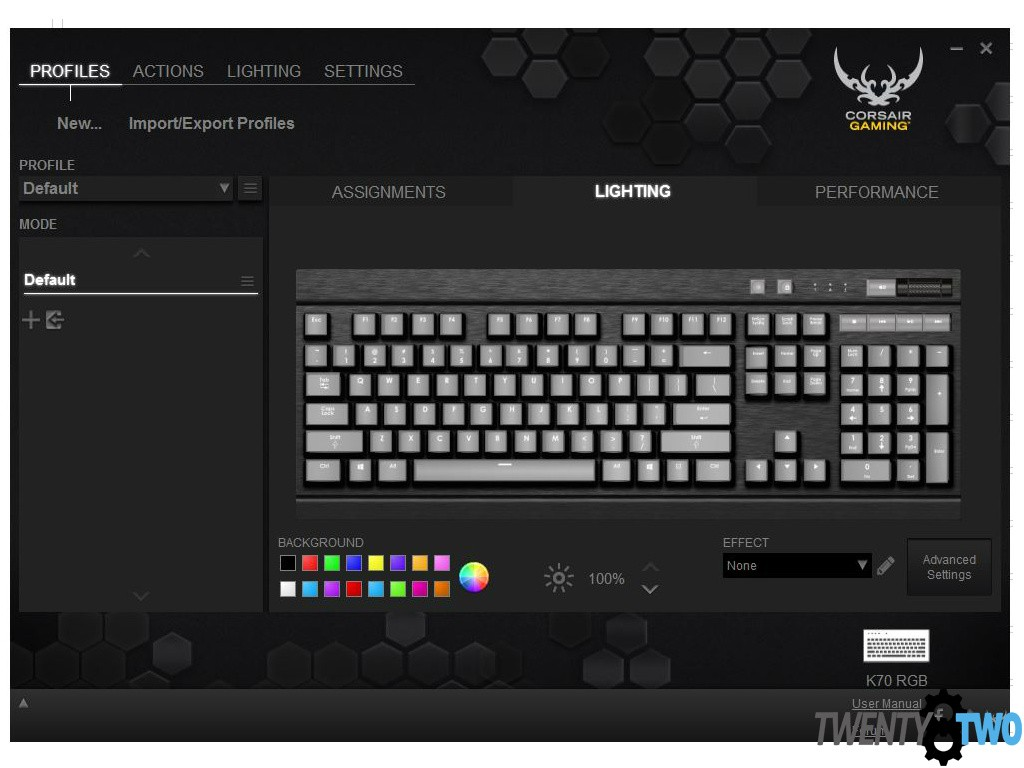 twenty8two-corsair-k70-rgb-review-unboxing-software-view