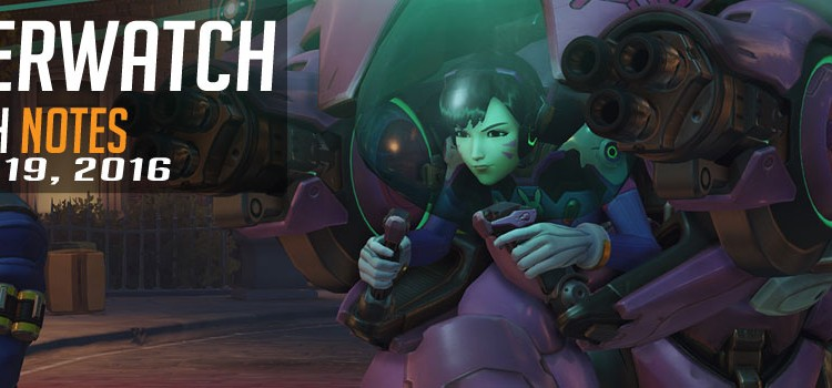 Patch 1.10 for Overwatch is live