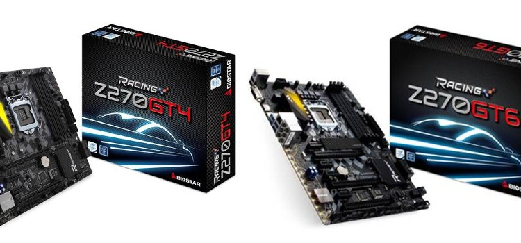 BIOSTAR Announces the full line Z270 Racing Series Motherboards