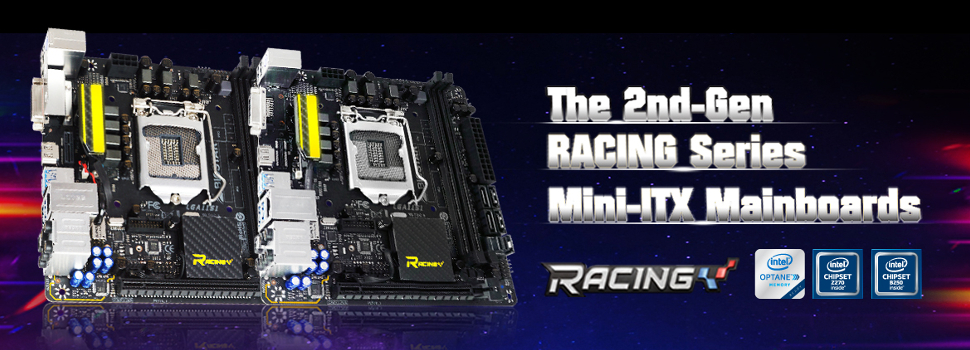 BIOSTAR announces feature-packed Mini-ITX RACING Motherboards