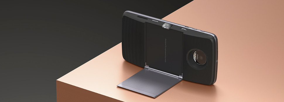 Snap on some fun with Moto Mods, available for the Moto Z line