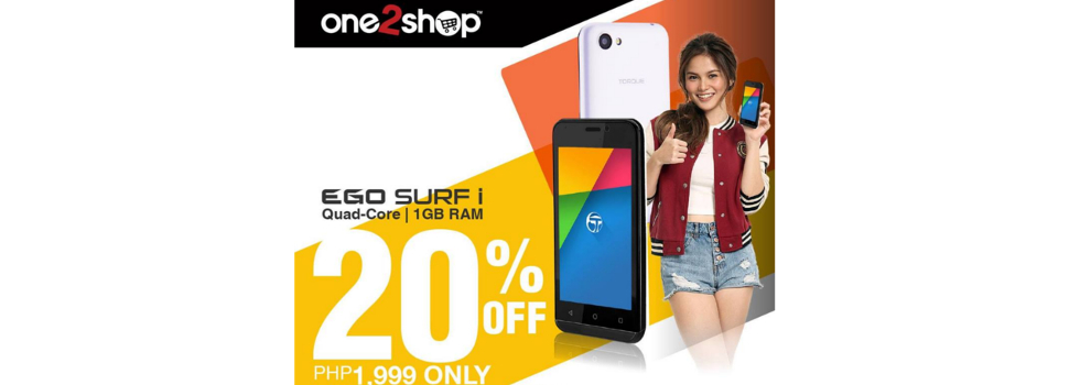Get Torque Mobile's EGO Surf i for only Php1,999 until tomorrow!