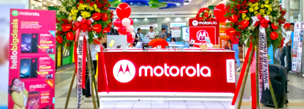 Motorola strengthens local footprint with first retail kiosk outside Manila