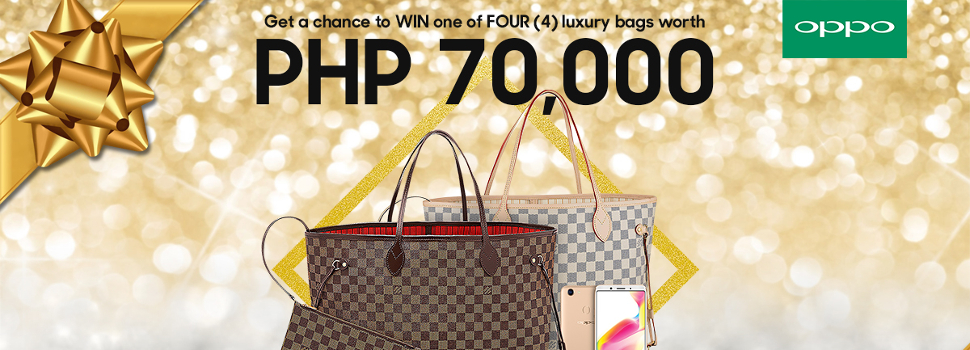 Get a chance to win a luxury bag worth Php70K when you purchase a brand new OPPO F5