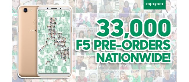 OPPO F5 achieved record-breaking 33,000 pre-orders in just 7 days