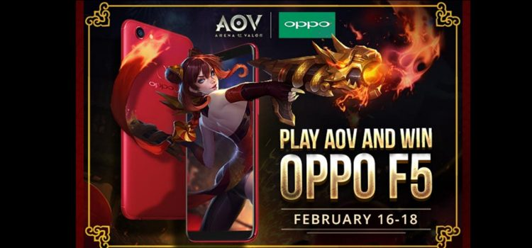 Play Arena of Valor and win an OPPO F5 This Long-Weekend