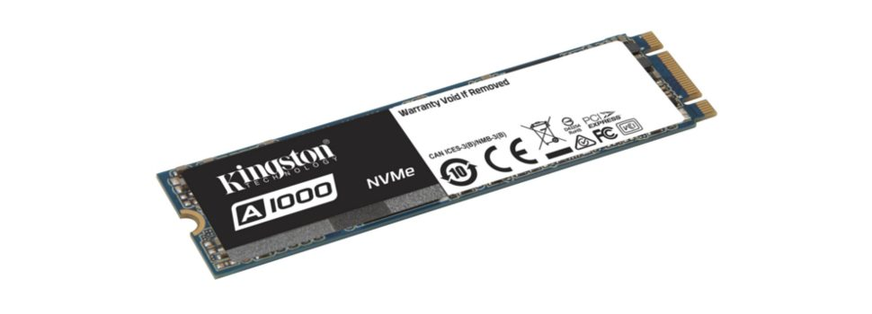 Kingston Introduces the A1000 Entry-level NVMe PCIe SSD