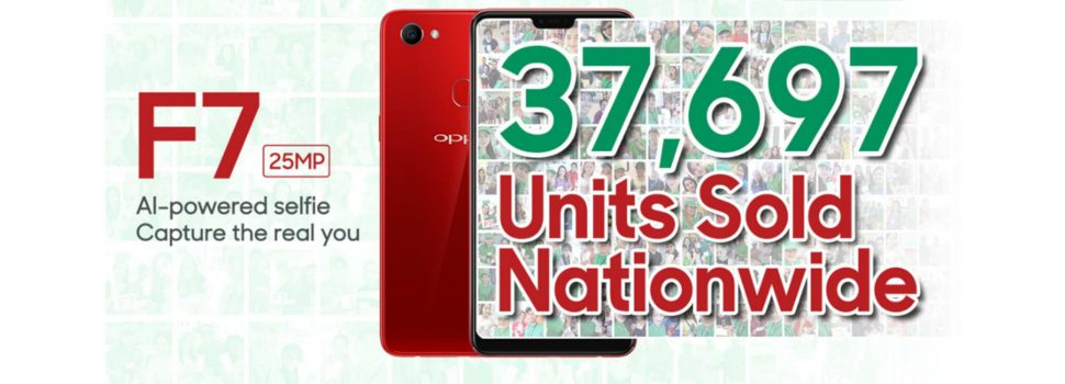 OPPO F7 breaks the record with 37,697 units sold on its First Day Sale!