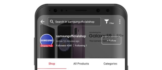 Samsung launches Official Store on Shopee