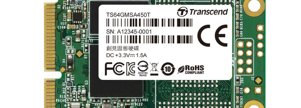 Transcend Announces New MSA450T mSATA 3D TLC SSD for Embedded Applications