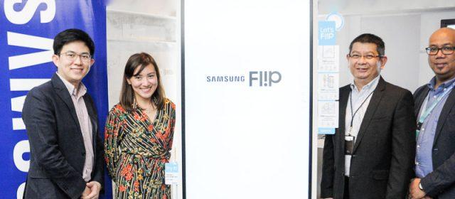 SAMSUNG flips business boundaries with an innovative digital flip chart