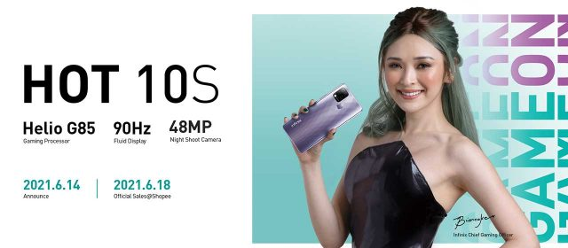 The Infinix Hot 10S Is Now Available On Shopee