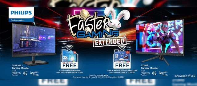 Philips Gaming Monitors Easter Promo           Extended Until June 15!