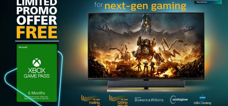 Philips Monitors Gives Out Xbox Game Pass to Celebrate Launch of Philips Momentum Designed for Xbox